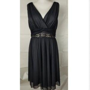 La Nouvelle Renaissance Dress Sz 14 Gray Formal